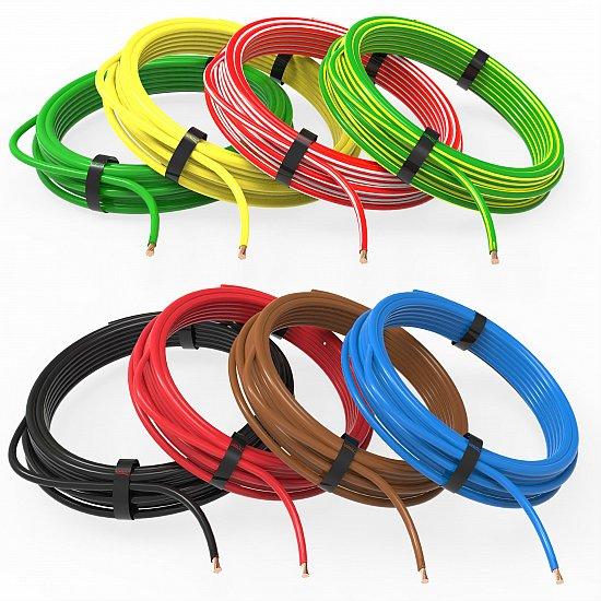 AUPROTEC Fahrzeugleitung 50,0 mm/² Kfz Kabel 1m rot 5m oder 10m Auswahl 5m