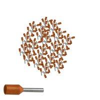 Aderendhülsen 0,50 mm² isoliert orange Kabelendhülsen