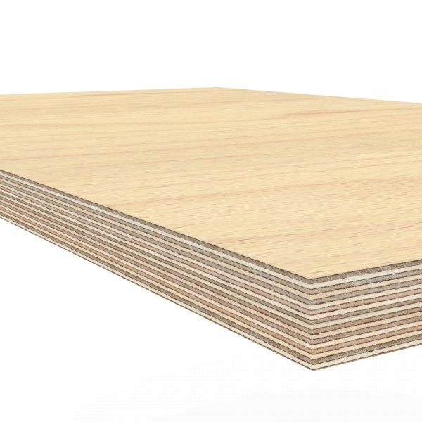 Werkbankplatte 1250 x 600 x 30 mm Multiplex Platte massiv geschliffen + geölt