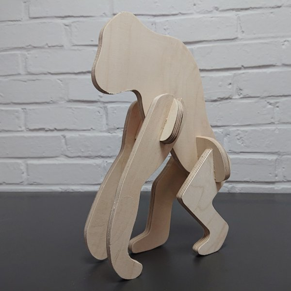 3D Holzbausatz Multiplex Birkenholz Modell Affe I