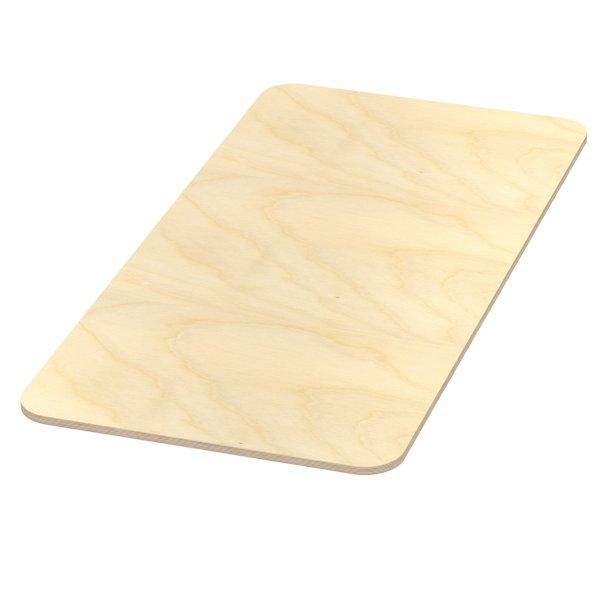 Multiplexplatte Holzplatte Tischplatte Birke melaminbeschichtet natur Eckenradius 100mm