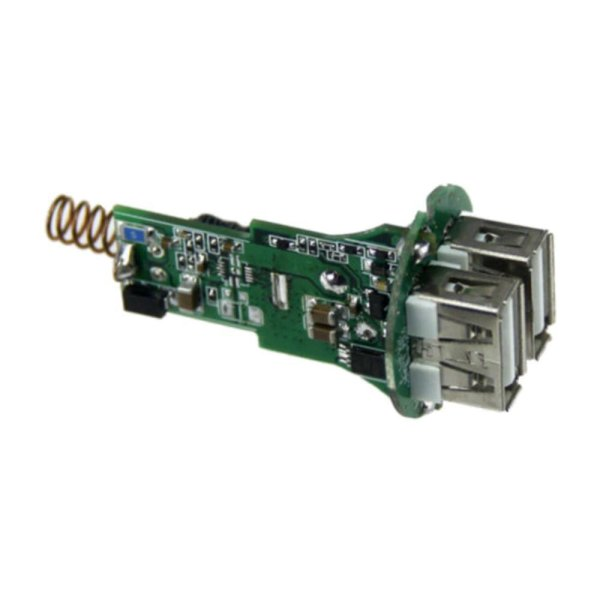 USB Adapter WS Dual Auto Ladegerät 3.1A weiß-silber
