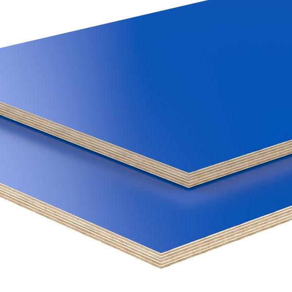 Multiplexplatte Holzplatte Tischplatte Birke melaminbeschichtet blau
