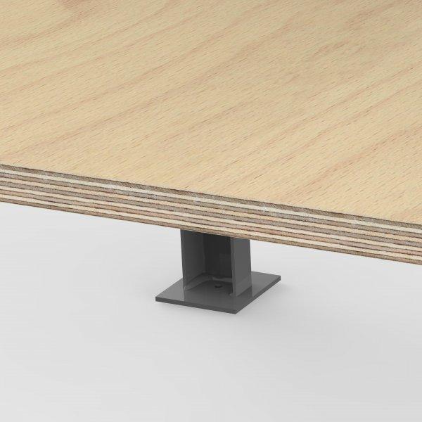 AUPROTEC /Établi professionnel 1250 x 600 x 850 mm Plan de travail Multiplex 40 mm avec 1 tiroir et /étag/ère en bois Plaque massive multiplex /Établi de qualit/é industrielle