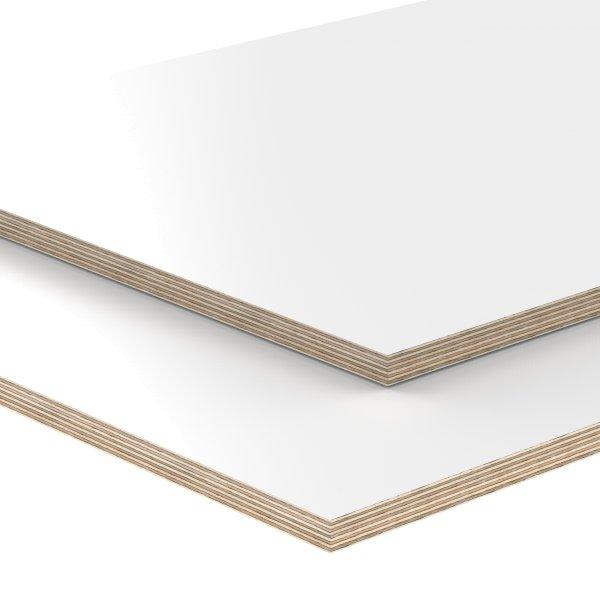 15 mm Multiplex Platten weiß melaminbeschichtet Zuschnitt auf Maß
