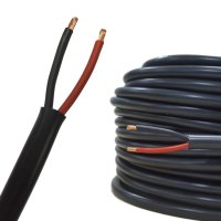 Rundkabel 2 x 0,75 mm² Kfz Kabel 2 polig/adrig schwarz-rot Meterware