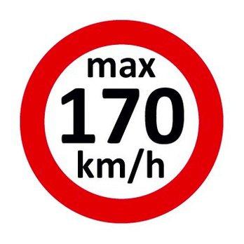 Set Geschwindigkeitsaufkleber 170 km/h nach § 36 StVZO