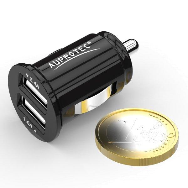 USB Adapter iX-3 Dual Mini Auto Ladegerät 3.4A