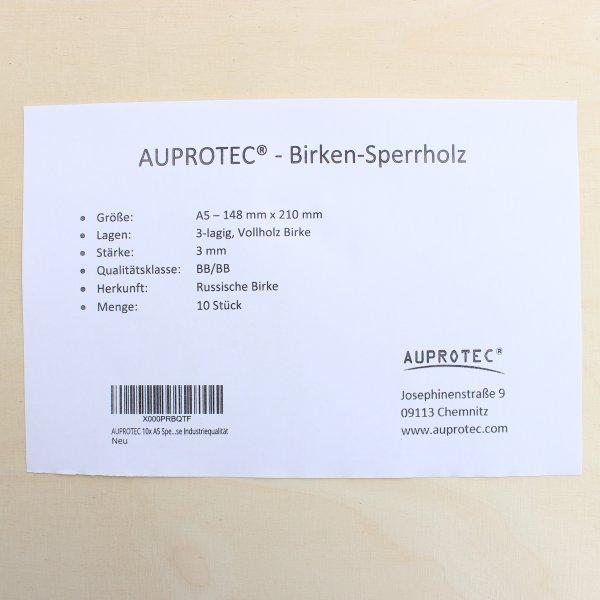3mm Sperrholz-Platten im Format DIN A5 bis DIN A1