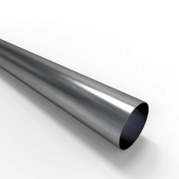Auspuffrohr universal Ø 60 mm Auspuff Stahl aluminiert