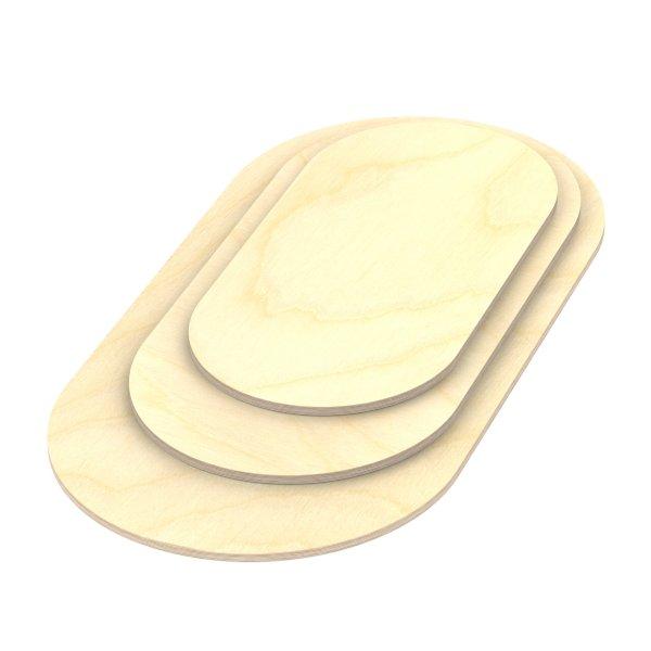 Multiplexplatte Holzplatte Tischplatte Oval melaminbeschichtet natur