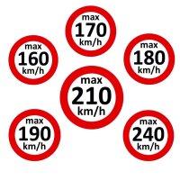 Geschwindigkeitsaufkleber nach § 36 StVZO