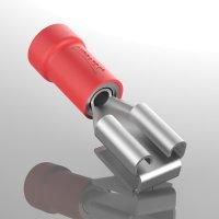 Doppelflachsteckhülse 0,5 - 1,5 mm² Teilisoliert PBDD 1.25-250 | rot | max 10A | 10 Stück