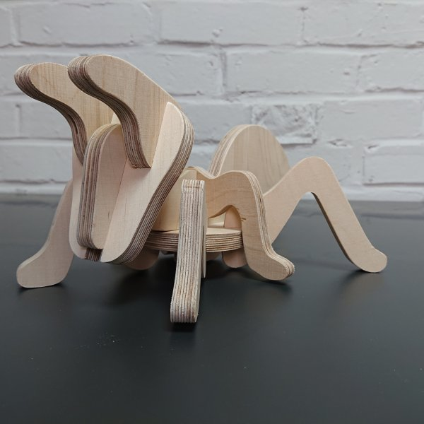 3D Holzbausatz Multiplex Birkenholz Modell Ameise