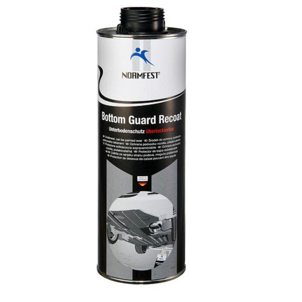Unterbodenschutz überlackierbar Bottom Guard Recoat 1 Liter Dose für Druckluft Pritzpistole schwarz