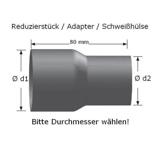 Reduzierstück Abgasanlage Ø28 - 76mm universal Rohrverbinder