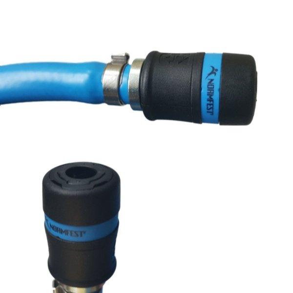 Sicherheits Druckluftschlauch Set 6mm - 13mm Normfest Schnellkupplung + Anschluss