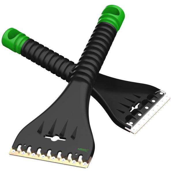 Eiskratzer mit Doppel Klinge Messing Polycarbonat AE 1 schwarz grün