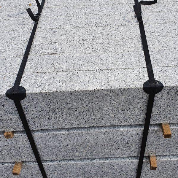 Granit Bordstein Naturstein 8 x 30 x 100 cm Leistenstein grau