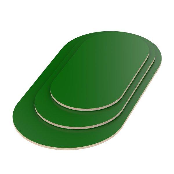 Multiplexplatte Holzplatte Tischplatte Oval melaminbeschichtet grün