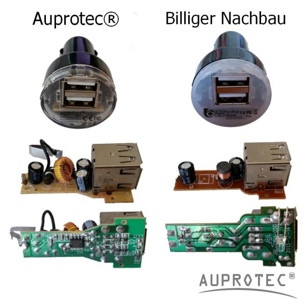 USB Adapter DUAL Mini Auto Ladegerät 3.1A