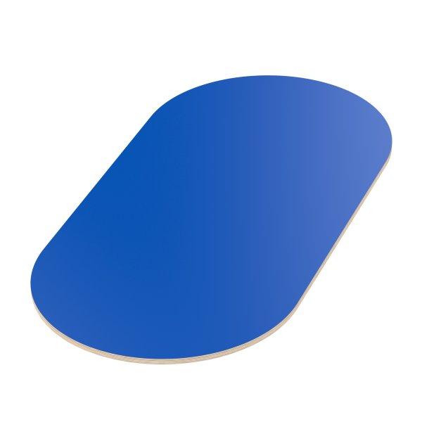 Multiplexplatte Holzplatte Tischplatte Oval melaminbeschichtet blau