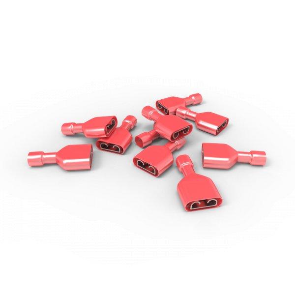 Flachsteckhülse 0,5 - 1,5 mm² Vollisoliert FDFN