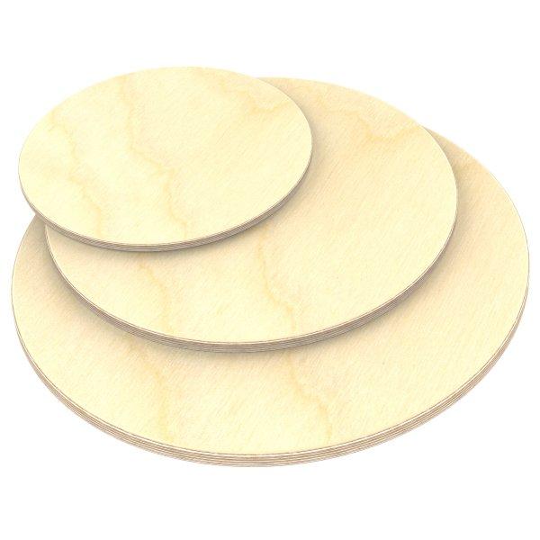 Multiplexplatte Holzplatte Tischplatte Rund melaminbeschichtet natur