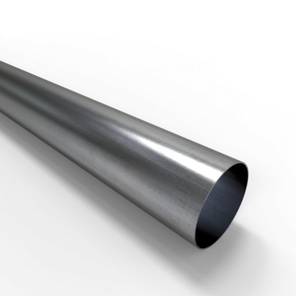 Auspuffrohr universal Ø 65 mm Auspuff Stahl aluminiert