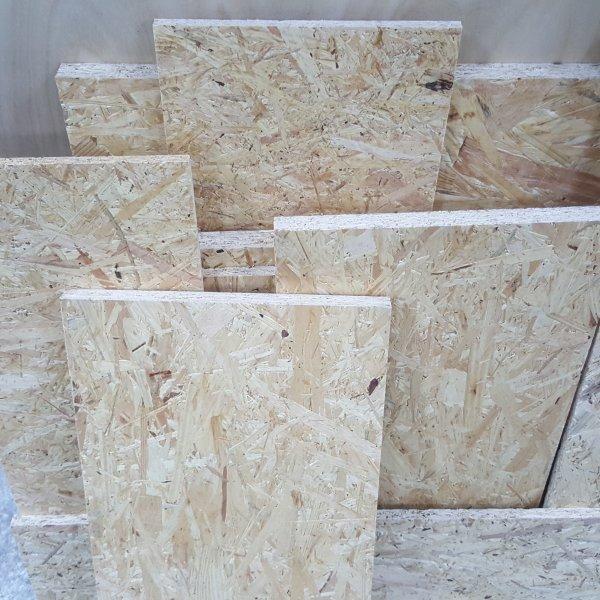 1m² Reste 25mm OSB/3 Platten Zuschnitt Holz Grobspanplatte