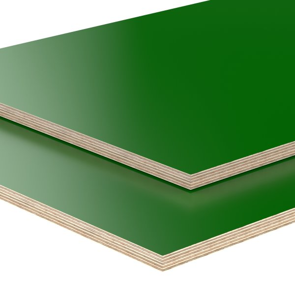 Multiplexplatte Holzplatte Tischplatte Birke melaminbeschichtet grün