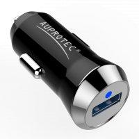 USB Adapter R15 Mini Auto Ladegerät 2.4A schwarz