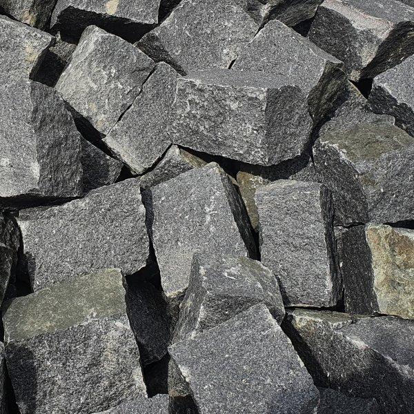 Granit Pflastersteine Naturstein 9/11 schwarz als Kleinmenge