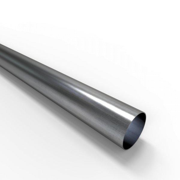 Auspuffrohr universal Ø 48 mm Auspuff Stahl aluminiert
