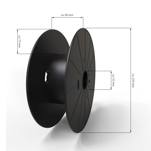 Restposten Kabelspule (gebraucht) Ø ca 270 mm ABS für Kabel