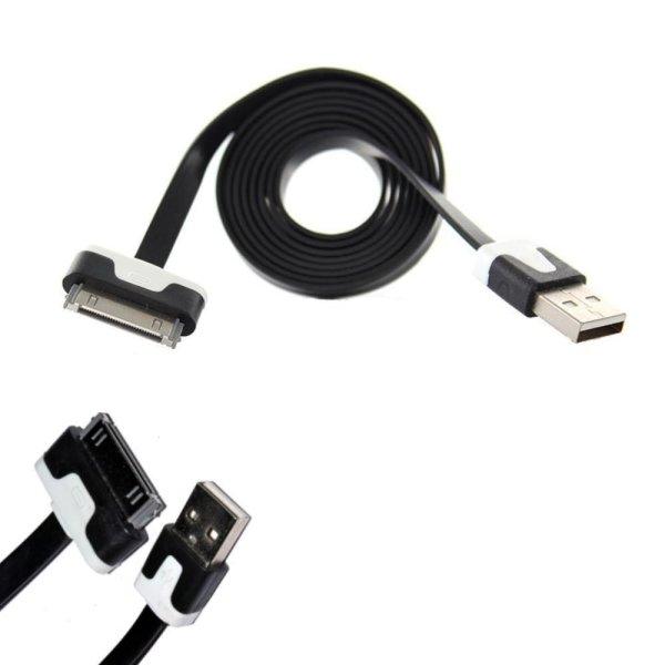 USB Adapter 3.4A Auto Ladegerät + iPhone4 Kabel 2in1 Set schwarz