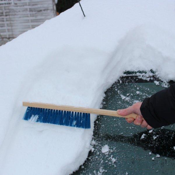 Schneebesen Holz Kfz Schnee Bürste Schneefeger