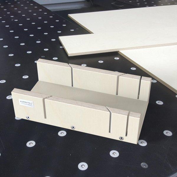 Schneidlade 250 x 135 x 68 mm Multiplex Birkenholz