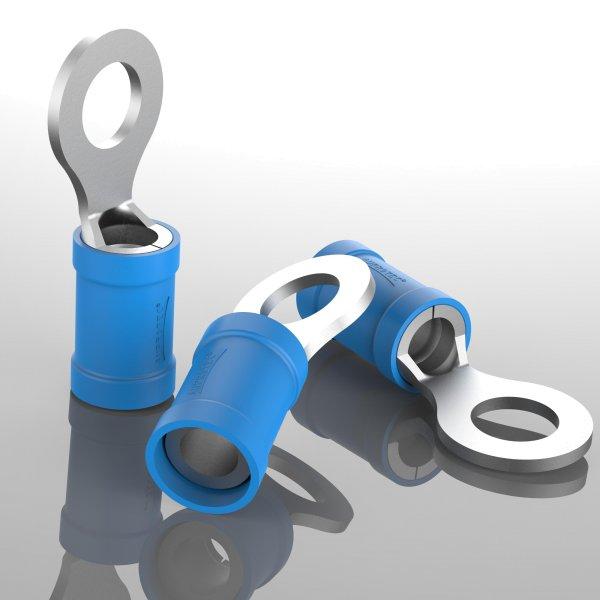 Ringkabelschuhe Teilisoliert blau
