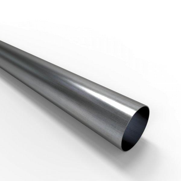 Auspuffrohr universal Ø 57 mm Auspuff Stahl aluminiert