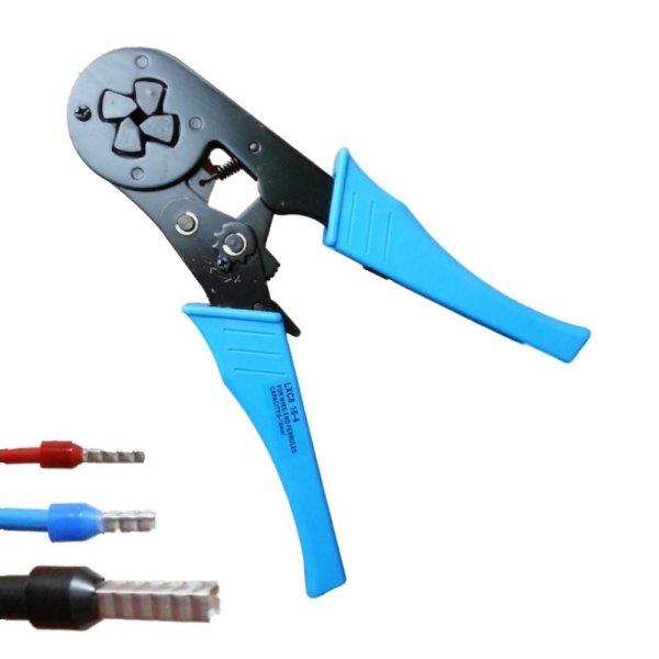 Crimpzange 2,5 - 16 mm² Aderendhülsenszange mit Vierkantpressung