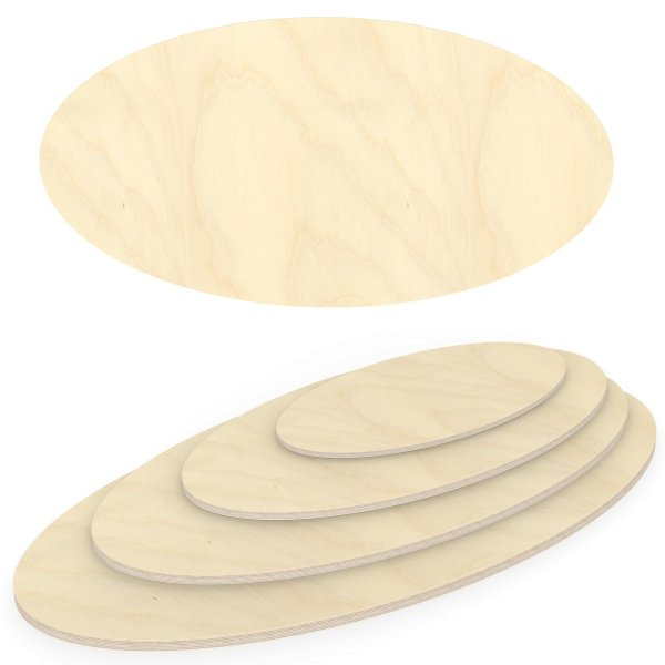 Multiplexplatte Holzplatte Tischplatte Ellipse