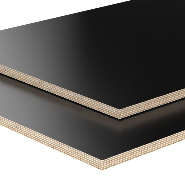 Multiplexplatte Holzplatte Tischplatte Birke melaminbeschichtet schwarz