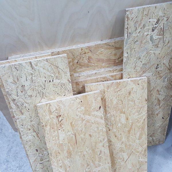1m² Reste 12mm OSB/3 Platten Zuschnitt Holz Grobspanplatte
