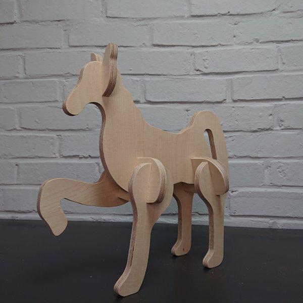 3D Holzbausatz Multiplex Birkenholz Modell Pony