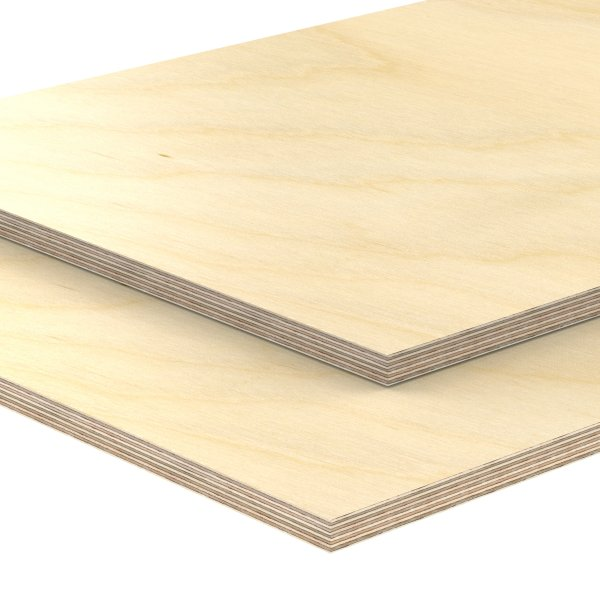 Multiplexplatte Holzplatte Tischplatte Birke melaminbeschichtet natur