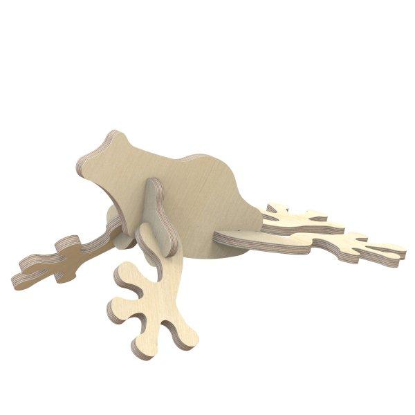 3D Holzbausatz Multiplex Birkenholz Modell Frosch