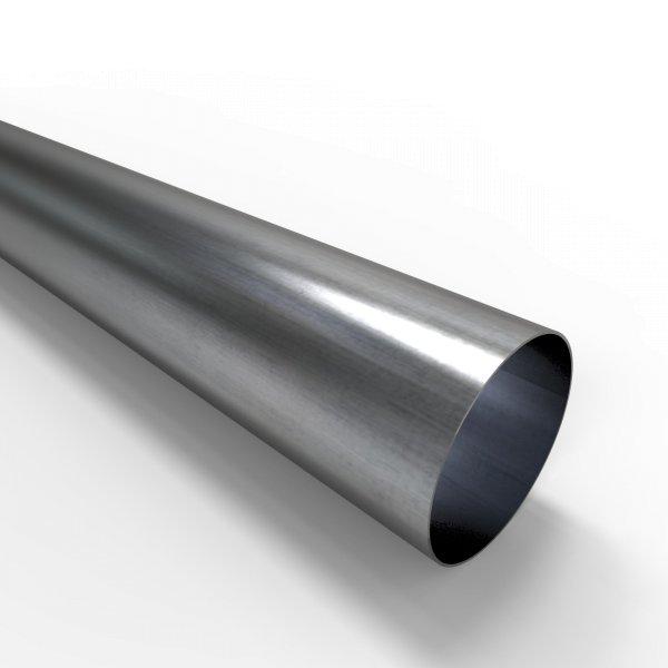 Auspuffrohr universal Ø 76 mm Auspuff Stahl aluminiert