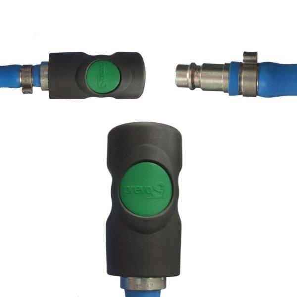 Sicherheits Druckluftschlauch Set 6mm - 13mm Prevost Schnellkupplung + Anschluss