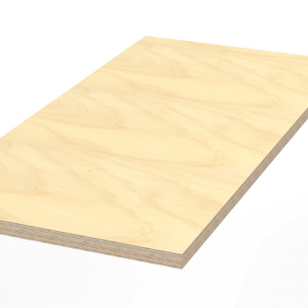 Werkbankplatte 1250 x 600 x 40 mm Multiplex Platte massiv geschliffen + geölt
